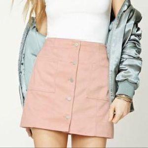 Forever 21 faux suede pink mini skirt NEVER WORN